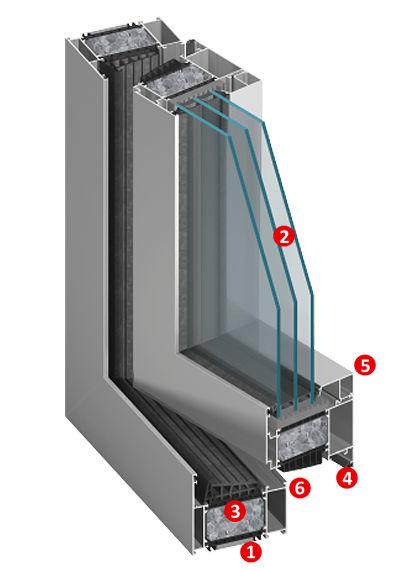 alumínium ablak
